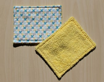 """Washable wipe """"small"""" - 8.5 x 11 cm - flower pattern"""