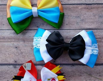 Alice in Wonderland Hair Bow Collection
