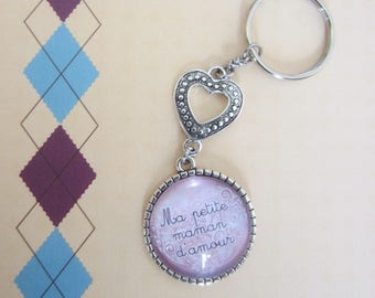 """Gift for MOM:""My little love MOM""keychain"""