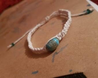 White hemp bracelet