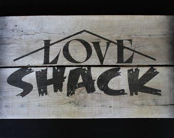 Love Shack Sign Etsy