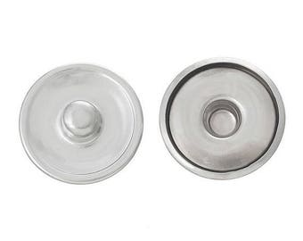 10 Diy cabochon 16 mm silver snap buttons