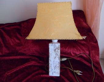 lamp shade and porcelain base of rice straw