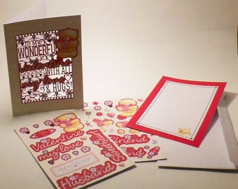 SAN VALENTINE'S DAY CARD A5 KIT TO CUSTOMIZE