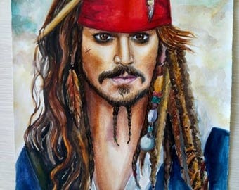 Portrait of captain Jack Sparrow