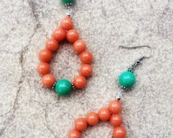 Earrings Sicily Orange Green