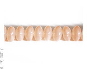 "60 ""lozenge"" 8x4.6mm - beige glass beads"
