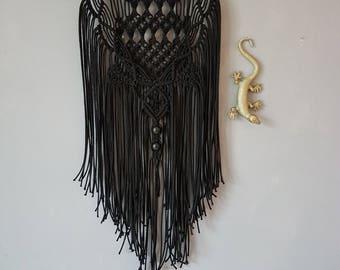 macrame wallhanger black rope 3 mm