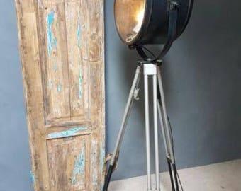 Industrial lamps spotlights on tripod