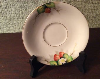 Vintage Ohata China Made in Occupied Japan - Saucer with Strawberries