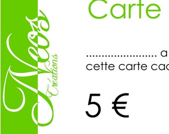 Gift voucher worth € 5