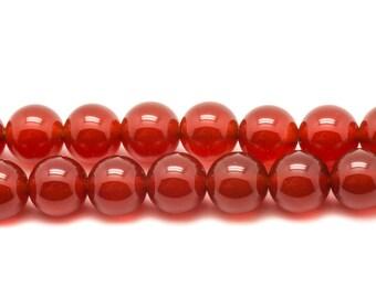 Stone - carnelian beads 1 strand 39cm balls 10mm