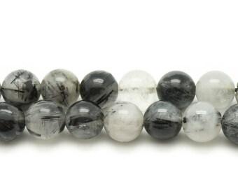 Stone beads - Tourmaline Quartz balls 14mm - 2pc 4558550035042 bag