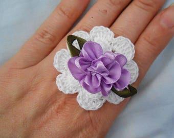 White crochet cotton ring