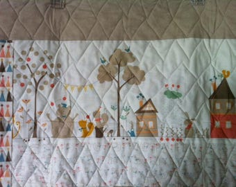 Custom baby quilt with Corner of 5th and Fun fabric