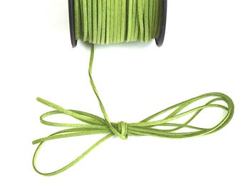 Medium green cord 3 mm 1.5 mm sold by Cup