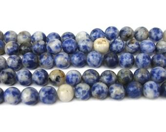 20 round blue stone 6 MM beads