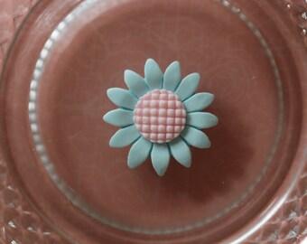 Flower Daisy Blue cabochon scrapbooking