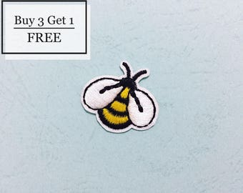 Bee Patch -  Iron on Patches, Sew On Patches, Embroidered Patches