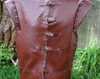 Medieval fantasy or viking style genuine leather jacket