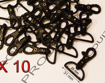 10 lobster swivel clasps survival plastic handle bag Crochet Tote 31 MM