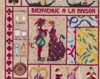 Kit embroidery blessed ladies welcome to the February House