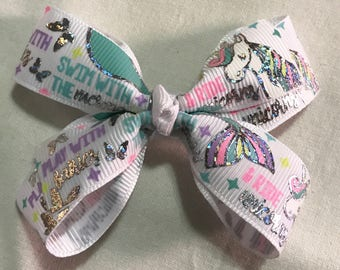 Play with fairies, swim with the mermaids, & ride unicorns hair bow