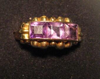 Art Deco ring 9karaat with Amethyst