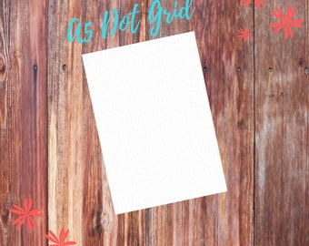 A5 Sized Bullet Journal Dot Grid Planner Printable (5.8x8.3in)