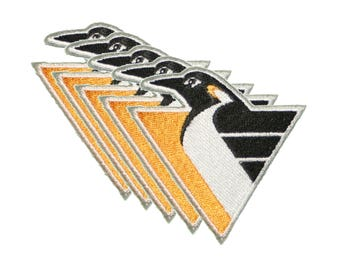 "Set of 5 Pittsburgh Penguins Iron On Patch 2.75"" embroidered team logo"