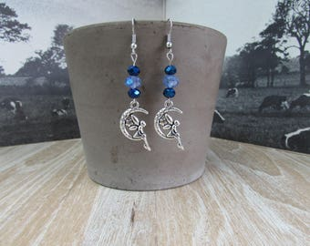 "Earrings, lightweight and thin ""fairy in the Moon"""