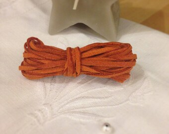 Rust suede cord, sold by the yard-