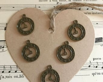 Set of clock charms