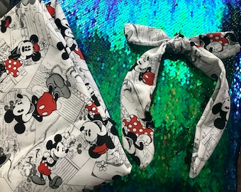 Mickey and Minnie Knot Headband