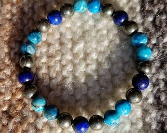 Blue Crazy Lace Agate and Lapis Lazuli