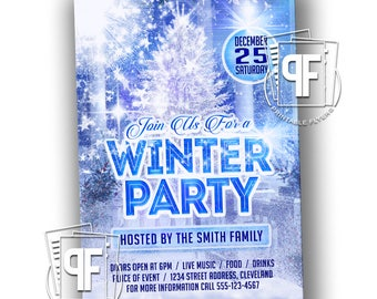 Christmas Party Invitation - Winter Party Invitation - Winter Party Flyer - Christmas Party Flyer