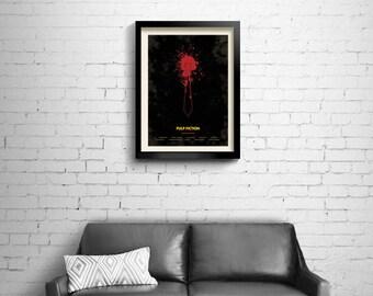 Pulp Fiction - alternative, minimalist movie poster, Tarantino, art print, home decor