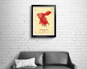 Gangs of New York - alternative, minimalist movie poster, Scorsese, art print, home decor