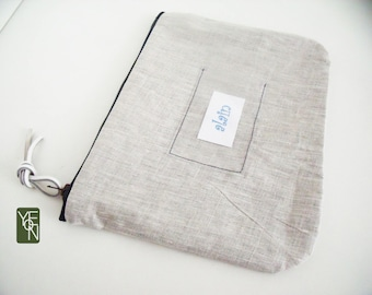 Personalized Pocket label BE coated liberty pouch
