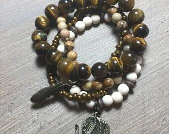 HHandcrafted Stackable Bracelet Set