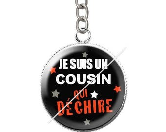 Keychain resin cousin 4 cabochon