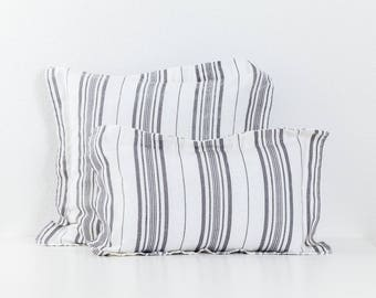 Linen decorative pillow Stripe lull094