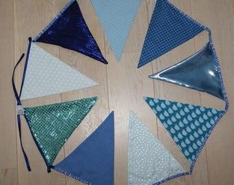 Garland 9 birthday flags, children's room