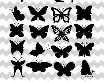Butterfly Svg, Butterfly Monogram, Monogram Butterfly Cut, Butterfly Cut Files, Dxf, Silhouette Digital Clipart Butterflies,