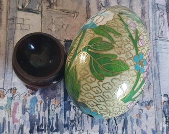 A Vintage Decorative Egg on a Tiny Stand