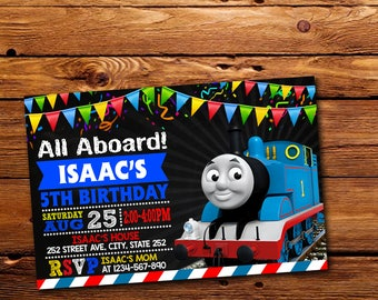 Thomas The Train Invitation,Thomas The Train Birthday,Thomas The Train Birthday Invitation,Thomas The Train Party,Thomas The Train -NR010
