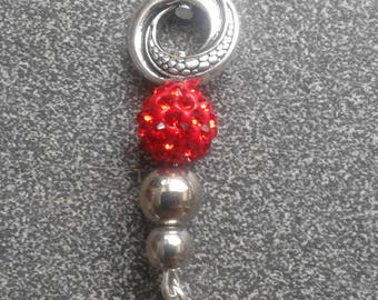 RED BEAD CHOKER NECKLACE