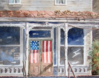 Oil Painting General Store The Fifth of July
