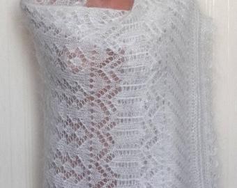 Большой шарф обёртка накидка тёплый пушистый мягкий шарф вязанный шарф пуховый кашемир всё Российское натуральное!!!