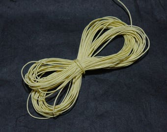 25 MTS cotton wax 1 mm yellow straw by 25 meters